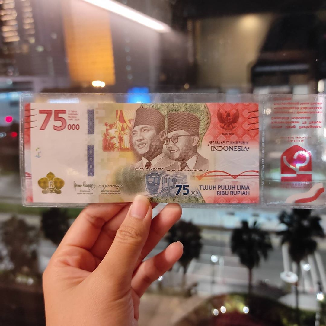 75th Independence Day Banknote - Front
