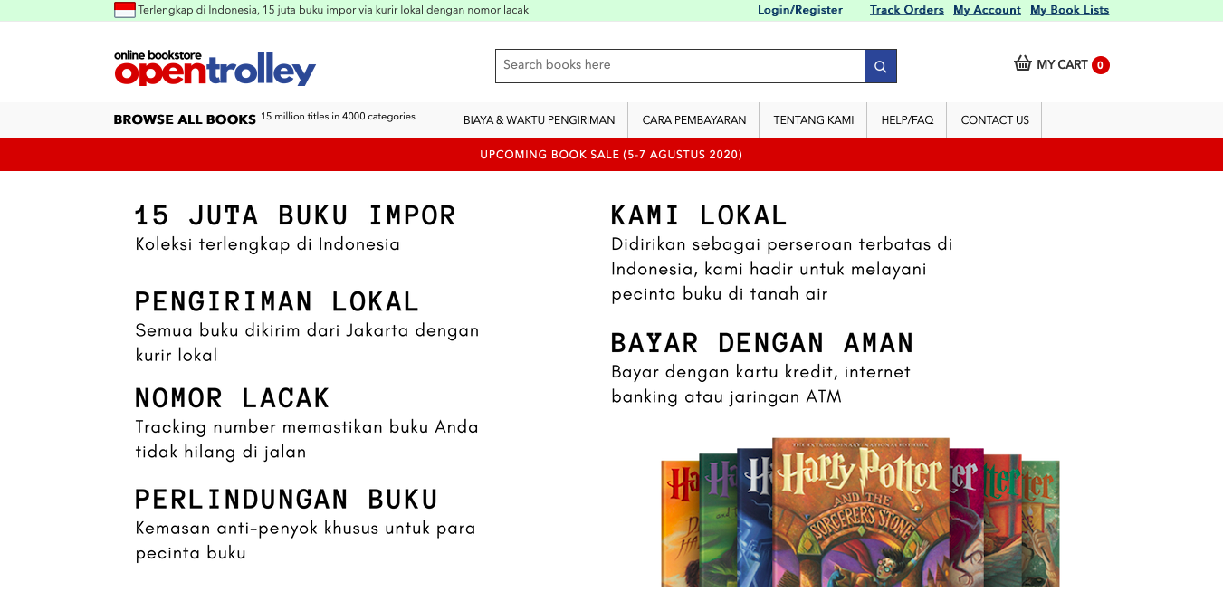 Online bookstores in Indonesia - Opentrolley