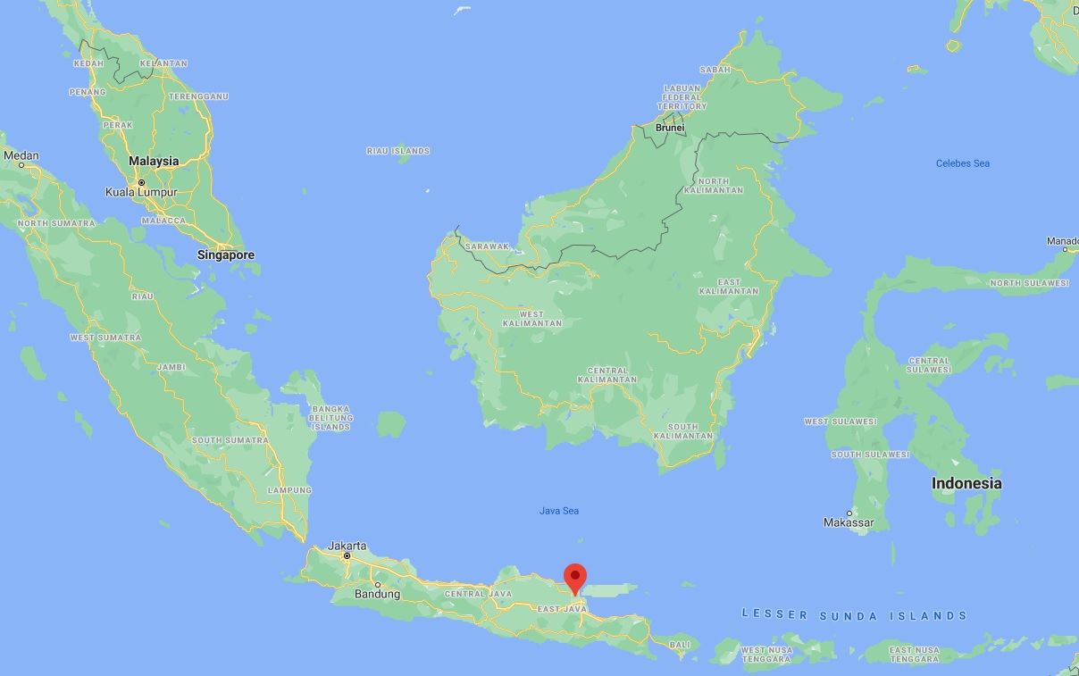 location of cerme, gresik, east java