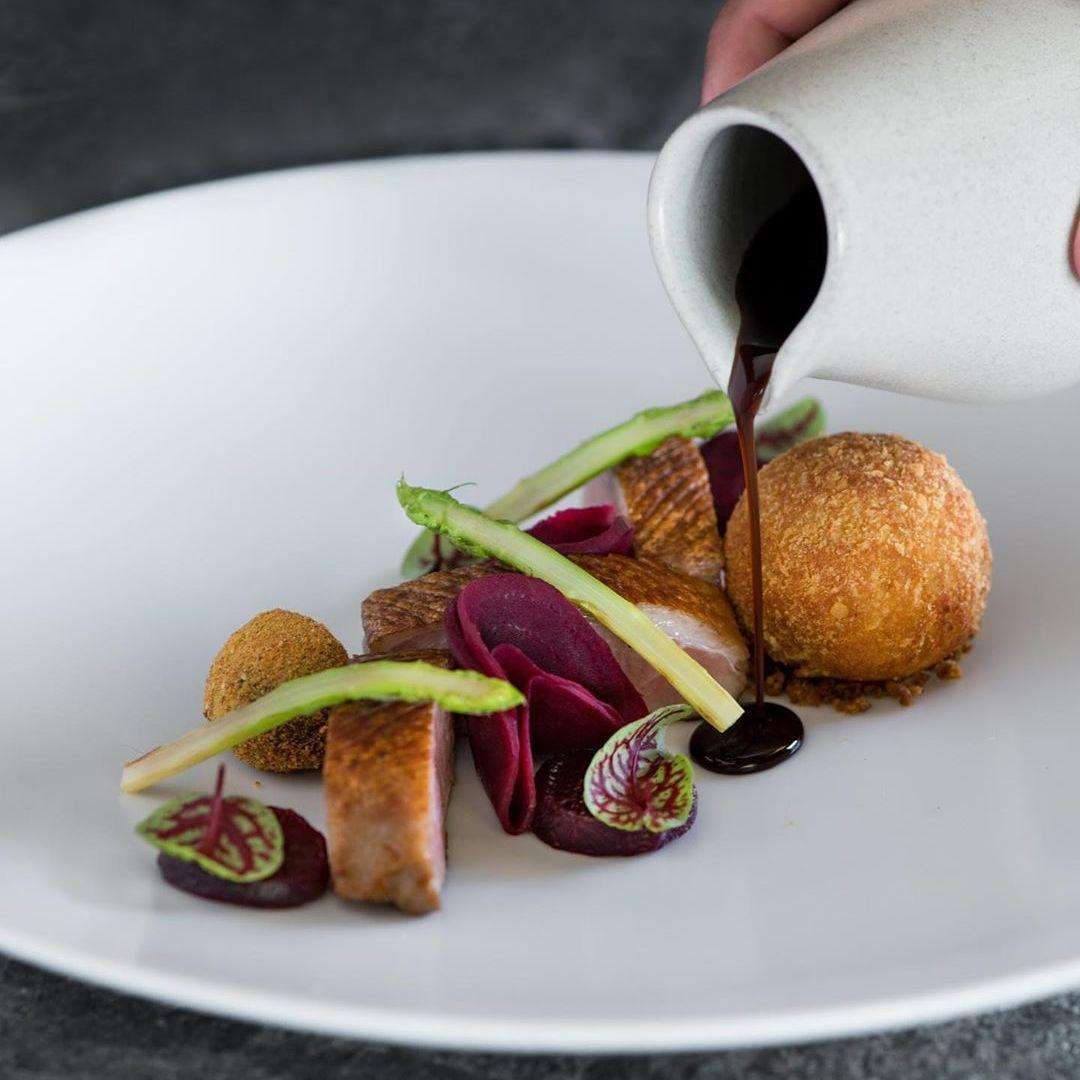 Fine Dining Indonesian Food Plating
