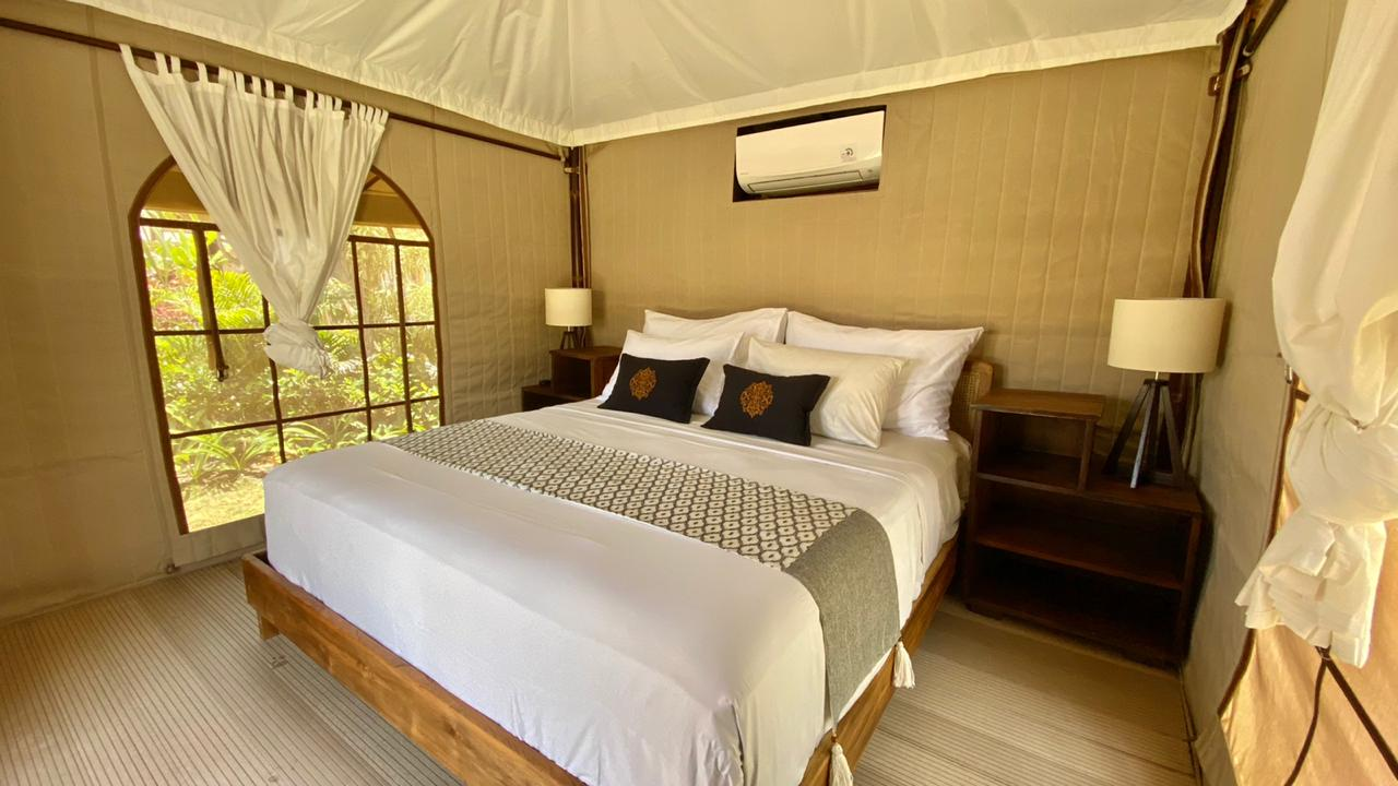 bali beach glamping outpost tent