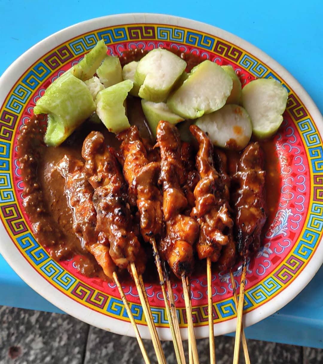 Chicken dishes in Jakarta - Sate Ayam RSPP
