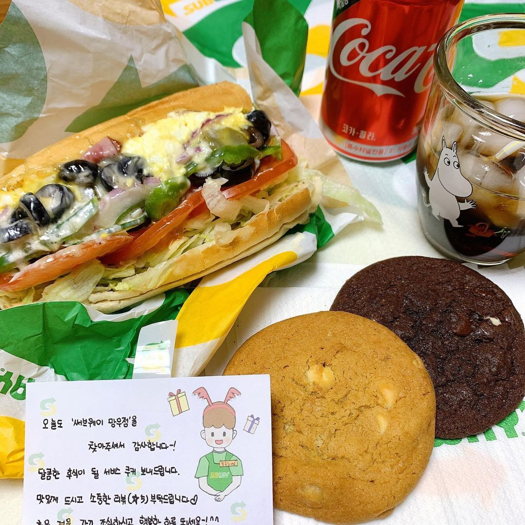 subway subs and cookies