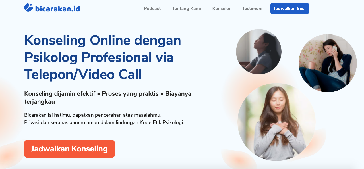 online counselling and therapy - bicarakan.id screenshot