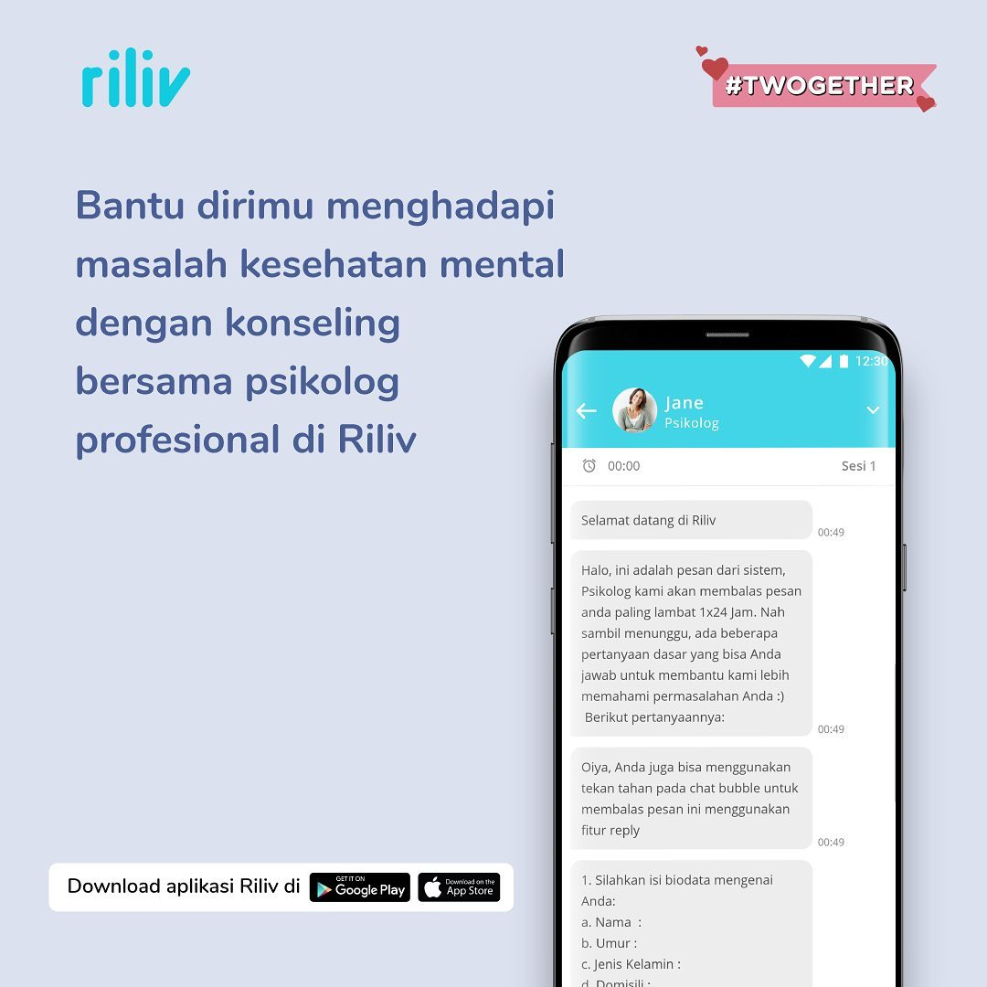 online counselling and therapy - riliv app interface