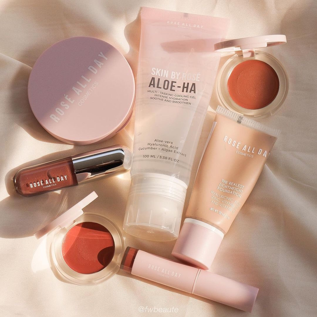 rose all day makeup