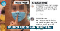 "Influencer In Bali Painted A ""Mask"" On Her Face As A Prank, Netizens Call For Her Deportation"