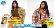 Influencer Upcycles Indomie & Chitato Packaging Into Chic Clothing & Handbags, Netizens Want To Buy Them