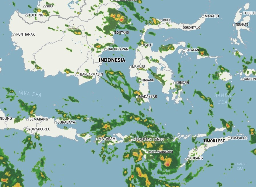flores indonesia weather 5 april 2021