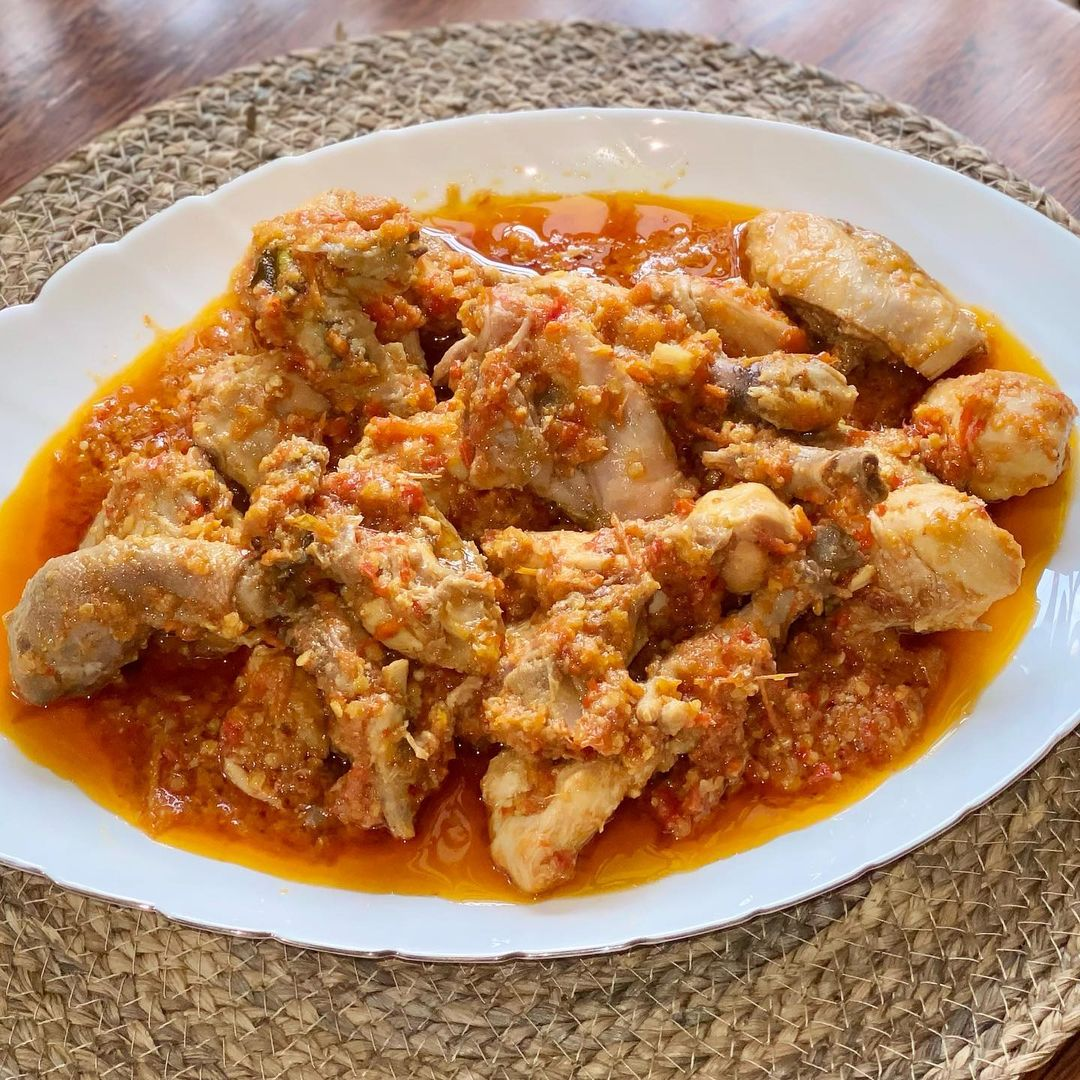 spicy indonesian food - ayam rica-rica