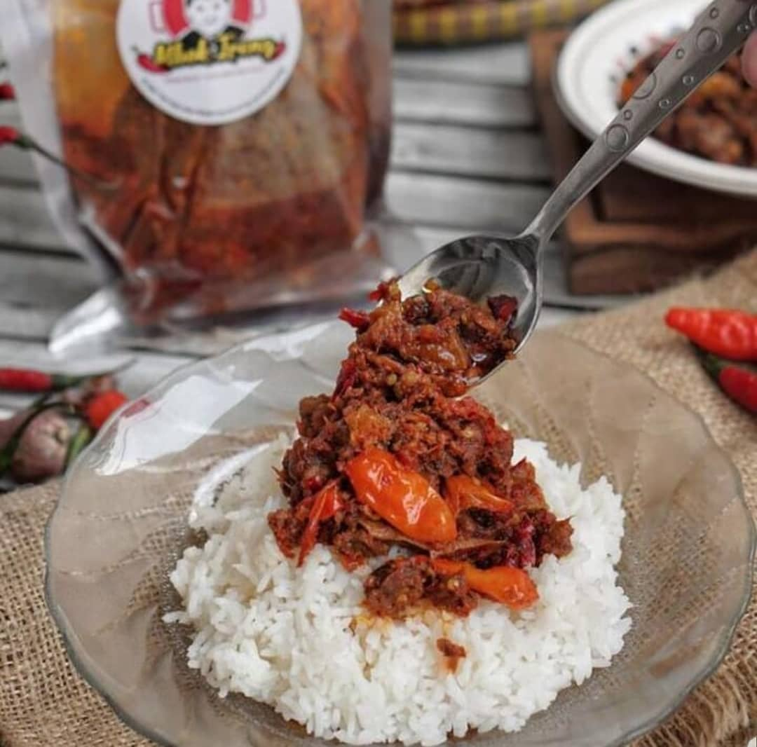 spicy indonesian food -prepackaged oseng mercon