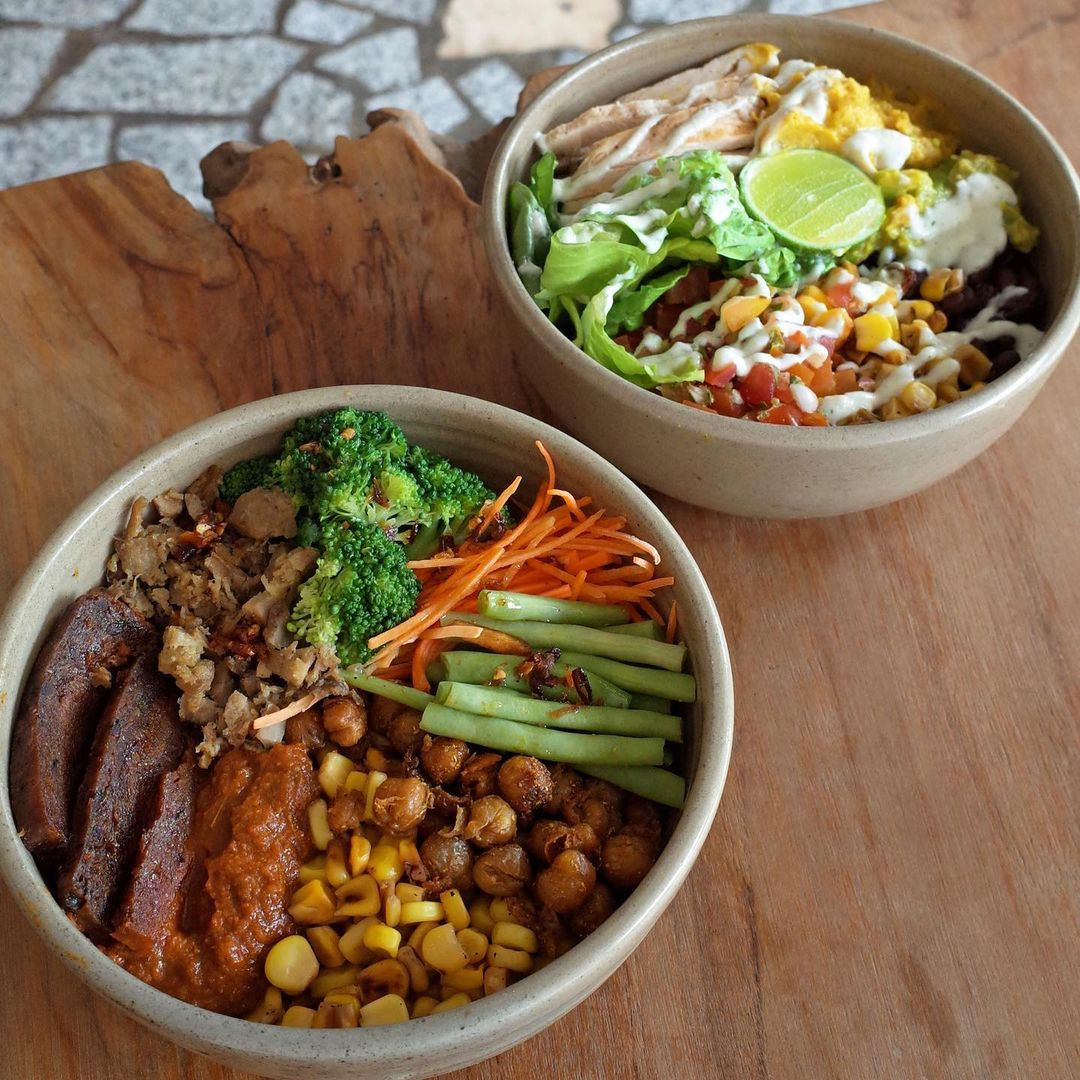 vegan and vegetarian cafes in jakarta - the roots nasi campur