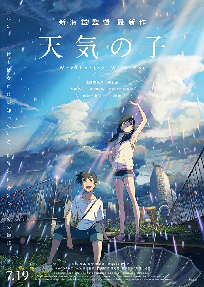 Weathering With You top anime movies