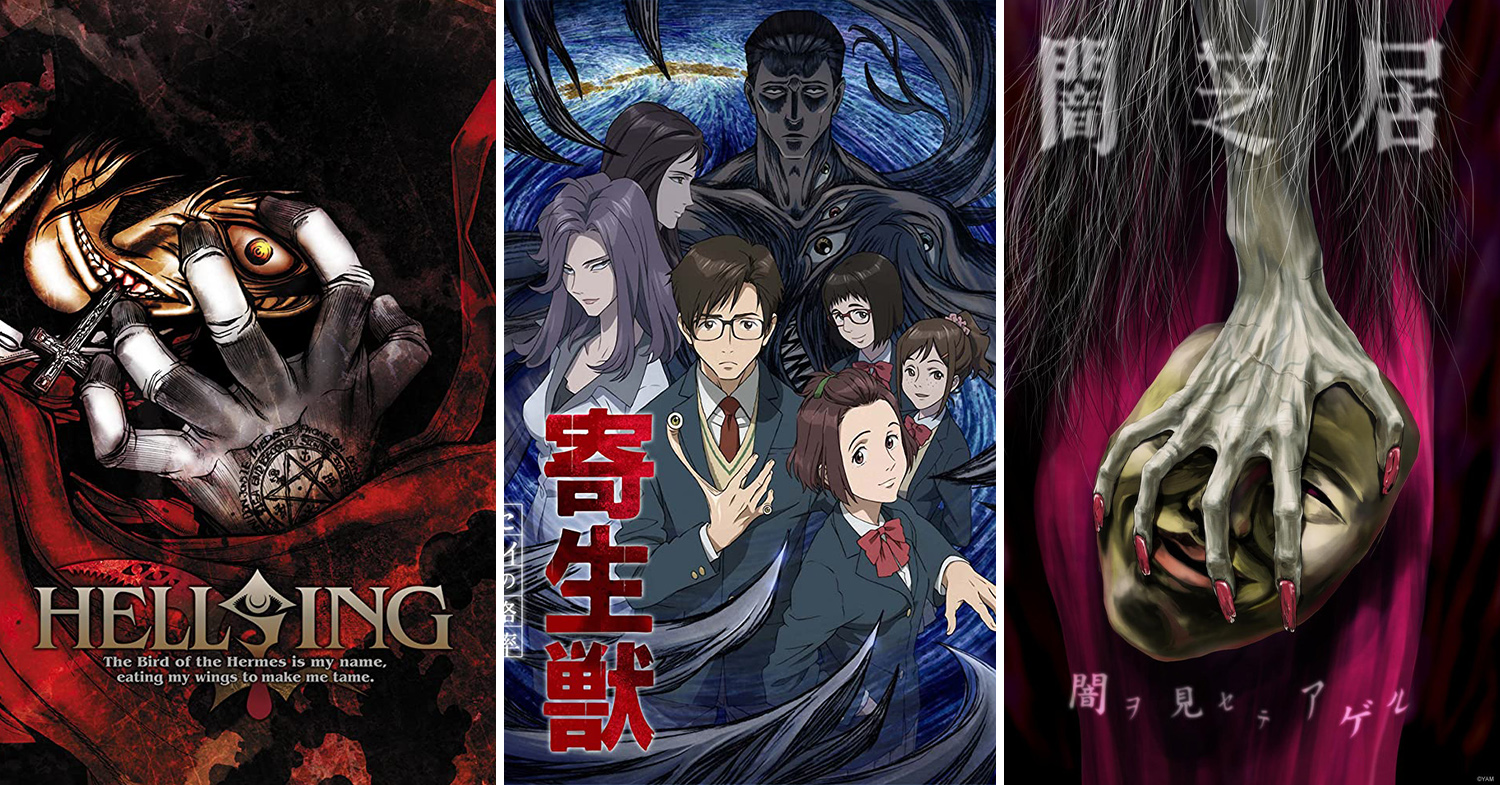 "11 Horror Anime Series To Scare Yourself Silly With Top horror anime series to watch Horror anime series to binge watch Image adapted from (left to right): Geneon, Madhouse, ILCA Have you ever been in a debate on whether anime is childish, and should only be watched by kids and teenagers? Clearly someone hasn't seen some of Japan's best anime horror series - these are seriously scary and aren't to be trifled with. Japan doesn't mess with its need for a good spook. We've made a list of some of the top horror anime series around, ranging from spine-chilling ones to a few deeply traumatising offerings. 1. Yamishibai: Japanese Ghost Stories (2013 - 2019) Image credit: IMDb The Yamishibai series is a collection of bite-sized short stories, with each episode only lasting for a couple of minutes. Based on Japanese myths and urban legends, every episode begins with a masked kamishibai (lit. paper play) narrator cycling to a children's playground at 5PM, gathering the kids around, and telling tales using a set of illustrated paper boards on the back of his bicycle. Image credit: TMDB The anime series is uniquely animated in a picture-story style that's reminiscent of kamishibai, a method of storytelling with illustrated boards as pictorial aids, popularised by the street storytellers of Japan during the Great Depression. It sets an eerie and unsettling atmosphere to the episodes. Image credit: IMDb There are 7 seasons currently. Although the episodes are short, Yamishibai is essentially horror boiled down to the basics, and it's more than enough to make your skin crawl. Image credit: IMDb Available on: Crunchyroll (select regions) 2. Another (2012) Image credit: IMDb The year is 1998, and Yomiyama Middle School is experiencing an unexplained series of grisly and violent deaths. Transfer student Koichi Sakakibara finds himself swept up in the midst of it. Only a mysterious girl who dons an eye-patch, Mei Misaki, seems to understand what's going on. Image credit: IMDb Another has made waves because of its bizarre and gruesome death scenes. It's a perfect introduction to thriller and horror anime series, with a good balance between scares and the supernatural. Image credit: IMDb Available on: Netflix 3. Puella Magi Madoka Magica (2011) Image credit: IMDb Puella Magi Madoka Magica is about a group of middle school girls who form a contract to become magic girls - cute girls in colourful costumes with magical powers tasked to fight against witches. Image credit: IMDb Things take an unexpected turn when the girls witness fellow magic girls dying horrific deaths in the hands of the witches. They quickly realise that their jobs as magic girls aren't about sunshine and rainbows, but are filled with despair and agony. Image credit: IMDb The series is credited for defying the magical girl anime series archetype that's traditionally associated with pretty girls and lighthearted and uplifting themes, such as Sailor Moon (1992). It has also been praised for its visuals and dark twist on the genre. Image credit: IMDb While we have just revealed one of the biggest spoilers in anime, Puella Magi Madoka Magica won't be any less traumatising for the viewer, and is definitely worth watching. https://www.youtube.com/watch?v=6CTHwEZK2JA Available on (select regions): Netflix, Hulu, Crunchyroll, Funimation 4. Shiki (2010) Image credit: IMDb An alarming string of deaths occurs in the rural Japanese town of Sotoba, which suspiciously coincides with the arrival of the mysterious Kirishiki family. The family resides in a castle that's located just outside of the town. Image credit: IMDb The director of the local hospital, Toshio Ozaki, comes across a horrifying fact during his investigation - the dead townspeople won't stay dead. The disturbing phenomena of the dead rising from the grave has no medical reasoning behind it, but a supernatural one instead. Image credit: IMDb Shiki differs from the typical vampire genre by introducing realistic characters to make you empathise with them, before they tragically transform from normal humans to terrifying undead monsters. You just can't help but feel sorry for the undead. https://www.youtube.com/watch?v=W6yEzWAd_vg Available on: Hulu 5. Corpse Party: Tortured Souls (2013) Image credit: IMDb Corpse Party follows a group of students bidding farewell to a friend who's about to transfer to another school. They decide to perform a seemingly innocent ritual - Sachiko Ever After - that's said to let them stay together forever. After the students invoke the ritual, however, they all pass out. Image credit: IMDb The students wake up later and quickly realise that something's wrong. They were transported to a hellish place called ""Heavenly Host Elementary School"", where dead bodies and murderous spirits roam the corridors. Separated from each other, the students must find a way to escape the school, or be doomed to an eternity of haunting the halls. Image credit: IMDb Based on an equally terrifying but popular video game, the series is filled with gore and creatively grotesque deaths. There are only four episodes, but it's sufficient to scar you for a while. Available on: Blu-ray and DVD 6. Blood-C (2011) Image credit: IMDb Kind and lovable Saya Kisaragi serves as a shrine maiden with her father. By day, she's a normal girl who attends school and hangs out with her friends afterwards in their small countryside village. At night, Saya reveals the other side of herself - she's a murderous katana-wielding defender of the town, tasked to slay bloodthirsty, Lovecraftian demons known as Elder Bairns. As more demons appear and Saya finds herself unable to save her loved ones, she begins to go down a twisted path to uncover the truth about the Elder Bairns, the town, and herself. Image credit: Wolpy/Blood-C Fandom Every single death in the series is gory, gruesome, and traumatising. It had to be censored in Japan and was blacklisted in China. Bones will be crunched, legs will be torn off, and heads will explode. https://www.youtube.com/watch?v=UqpRUvLoUuM Available on: Hulu 7. Deadman Wonderland (2011) Image credit: IMDb Set in an alternate universe, Deadman Wonderland is a perverted twist on incarceration where prisoners are put in gladiator fights in an amusement park-like prison. Middle school student Ganta Igarashi and his friends were planning a trip to Deadman Wonderland, when a mysterious being covered in blood floats into the classroom through the window. Everyone is massacred in a matter of seconds, except for Ganta. The ""Red Man"" then embeds a red crystal shard in Ganta's chest. Ganta, being the sole survivor of the incident, is charged with mass murder and sentenced to be imprisoned in Deadman Wonderland. With no way to prove his innocence, Ganta is doomed to a life of entertaining visitors as a Deadman. Image credit: IMDb After an accident almost kills him, Ganta finds out that he has deadly power over his blood, granted by the red crystal shard in his chest. He sets out to escape but has to face off other Deadmen and the prison guards. https://www.youtube.com/watch?v=mBj7XXeOo28 Available on: Netflix 8. Hellsing Ultimate (2006) Image credit: IMDb The Hellsing Organisation protects England from supernatural threats by destroying the undead and other things that go bump in the night. Alucard - the original and most powerful vampire - is a faithful servant of the organisation after he lost a battle to the original leader. Image credit: IMDb Hellsing follows the organisation and Alucard as they fight against the living dead and their endless bloodlust, and uncover a Nazi plot to usher a new Reich with an army of vampires. Image credit: IMDb Hellsing Ultimate (2006) is a series of original video animations (OVA) made for home release, rather than for television broadcast. It has a higher production value than the original Hellsing (2001) and is more faithful to the manga. Image credit: IMDb Available on: Hulu (Hellsing Ultimate), Netflix (Hellsing and Hellsing Ultimate) 9. Hell Girl (2005 - 2017) Image credit: IMDb What if there was a way to exact revenge on someone by dragging that person to hell, via an online service? Hell Girl is about a website that allows people to engage the services of Ai Enma, the titular jigoku shoujo (地獄少女), or Girl from Hell. Image credit: IMDb Hell Girl is an anthology series of tormented characters pushed to their breaking point, so much so that they'd do anything to exact revenge. They'd submit a request on Hell Correspondence, a supernatural website rumoured to be able to get rid of another person. Once a name is submitted on the website's text box, Ai Enma would appear and present a straw doll with a red string around its neck to the begrudged client. The doll is like a confirmation - by pulling on the red string, the client would immediately send the target to hell. However, there is a condition - by pulling the string and utilising the Hell Correspondence system, the client would also be sent to hell when they die. Image credit: IMDb Hell Girl isn't just a horror/thriller flick. It explores the themes of injustice, hatred, and revenge. It also addresses issues such as bullying, violence, torture, animal cruelty, insanity, and other socio-psychological themes. https://www.youtube.com/watch?v=Zo5wuctIMWk Available on: Amazon Prime 10. Ghost Hunt (2006 - 2007) Image credit: IMDb Ghost Hunt chronicles the Shibuya Psychic Research Centre and their investigations of supernatural phenomena around Japan. Image credit: Caramelsprinkles12/Ghost Hunt Fandom The motley crew of spiritualists is led by Kazuya Shibuya, a narcissistic teenage manager, and joined by Mai Taniyama, a first-year high school student who becomes his assistant. The team also includes a monk, a shrine girl, and an Australian Catholic Priest - an interesting mix, to say the least. Image credit: Caramelsprinkles12/Ghost Hunt Fandom Based on a popular light novel that has been left incomplete since 1994, Ghost Hunt is a classic thriller investigation series about the occult. It isn't the scariest anime series, but it does give you a good spook, making it fun for first-time watchers and old-timers alike. https://www.youtube.com/watch?v=iaTt3r6S308 Available on: Funimation, Amazon Prime 11. Parasyte: The Maxim (2014 - 2015) Image credit: IMDb Humanity is no longer at the top of the food chain - a terrifying new species has appeared, and human beings are at their mercy. Image credit: IMDb 17-year-old high school student Shinichi Izumi is a kind boy, but he's also a bit of a wimp. One night, he wakes up to find a worm-like creature burrowing into his hand and making its way towards his brain. He manages to stop the worm, but discovers that his right arm has been eaten and replaced by the sentient, shapeshifting, and highly intelligent being. Shinichi names it Migi, which is Japanese for ""right"". Image credit: IMDb It is revealed that these creatures devour and replace the head of humans, and take on the guise of the host to prey on more humans. Because these alien beings are shapeshifters, they are hard to detect and have already infiltrated society. It doesn't help that they're incredibly deadly and cannot be killed easily. Image credit: Kiseijuu Fandom Several of these man-eating monsters realise that Shinichi and Migi are an anomaly and attack them, forcing the unlikely pair to work together to survive. When Shinichi's loved ones are preyed on by the parasitic monsters, his and Migi's symbiotic relationship is put to test. Image credit: IMDb Parasyte is a sci-fi horror series that's based on a manga that ran from 1989 to 1995. There are plenty of iconic scenes of alien parasites feasting on human flesh - it's the stuff that nightmares are made of. It's also a psychological flick that discusses what humanity is, the ecological impact of humans, and where we stand on the food chain. https://www.youtube.com/watch?v=rj63TDpaBWk Available on: Netflix, Hulu, Crunchyroll Horror anime series Anime has a wide range of genres and there's something for everyone, whether you're a chick-flick lover or fan of gory horror. If you find someone who still insists that anime is for kids, just dare them to watch a few of these horror anime series - we guarantee that they'll change their mind. Need more stories about things that go bump in the night? Be sure to check out some of the most haunted places in Japan to get your fix. Check out these articles: Japanese cocktails with supermarket ingredients Simple Japanese dishes to cook at home Japanese movies to watch Iconic Japanese anime series Japanese anime movies"