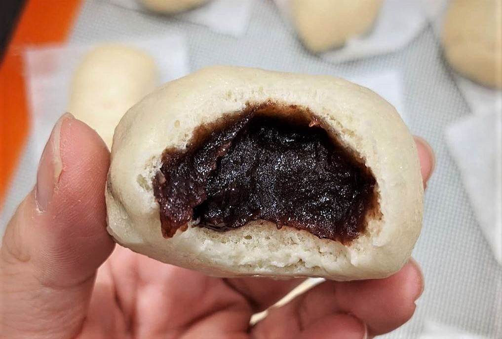 Japanese anime recipe Steamed Red Bean Bun