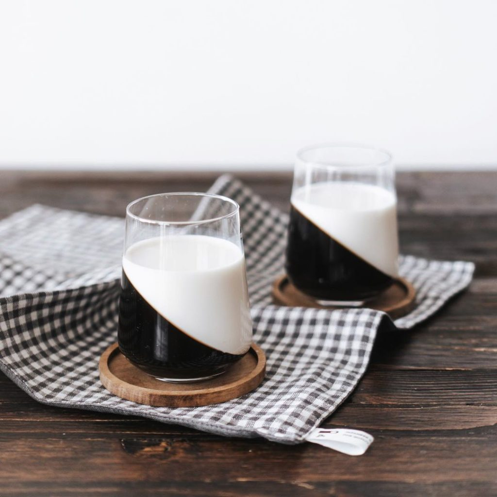 Coffee Jelly Recipes - milk and coffee jelly