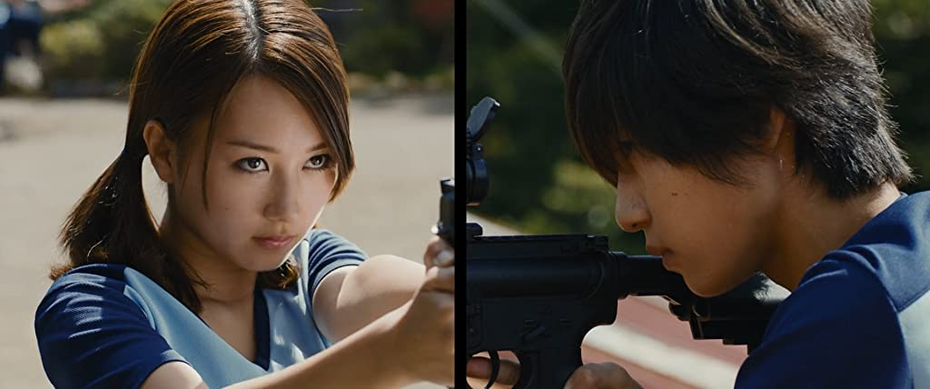 Japanese Live-action Movies - Assassination Classroom students holding weapons