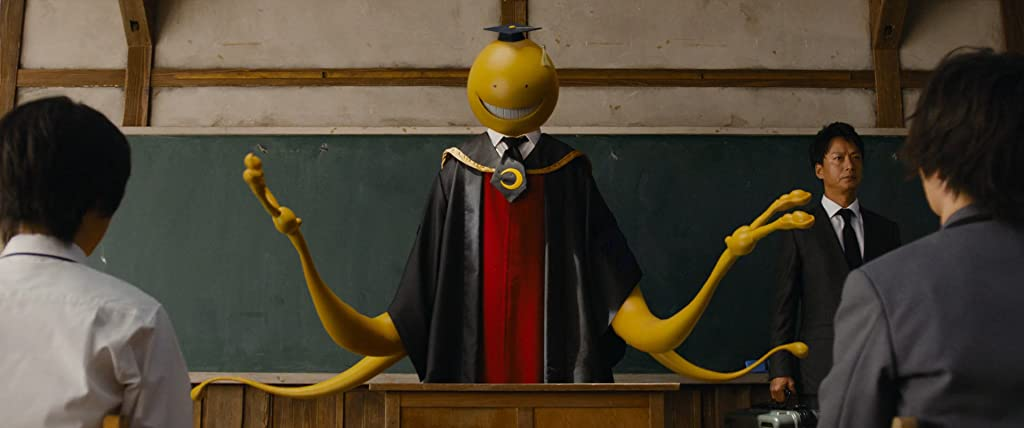 Japanese Live-action Movies - Assassination Classroom blackboard