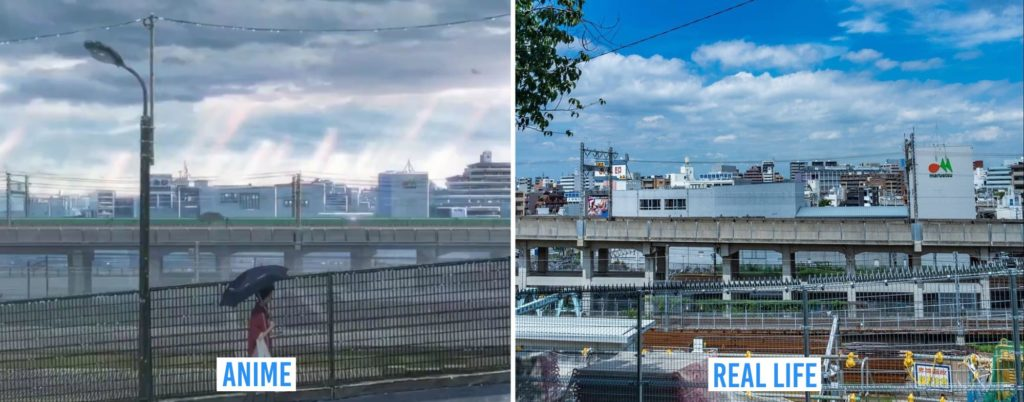 Real Life Anime Locations - outside of Tabata Station south exit