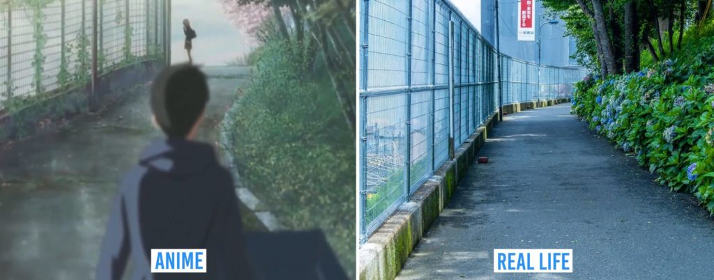 Real Life Anime Locations - outside Tabata Station south exit