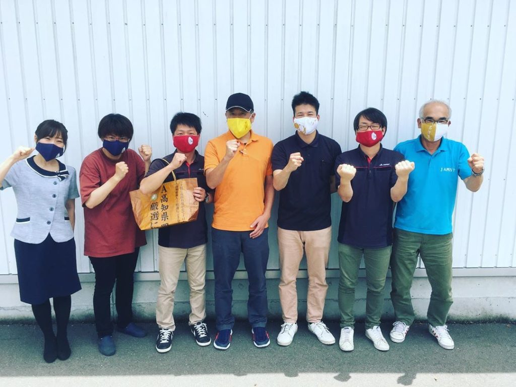 Japanese Farmers Use Masks As Ads - rice farmers in Japan wearing their respective masks