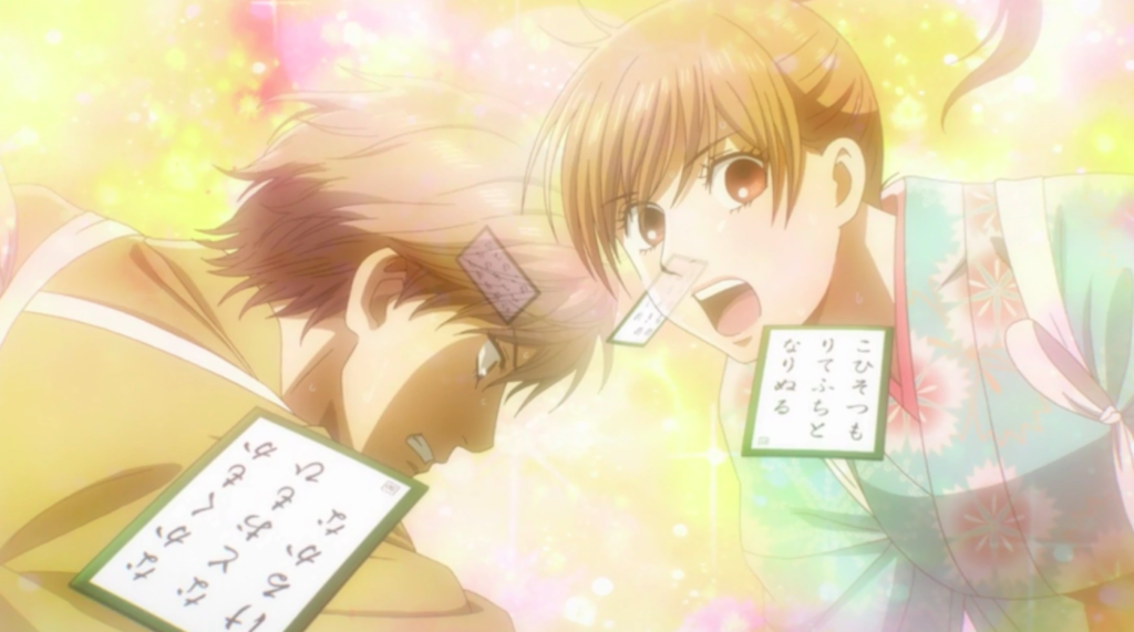 Sports anime besides Haikyuu!! - Taichi and Chihaya competing for a card