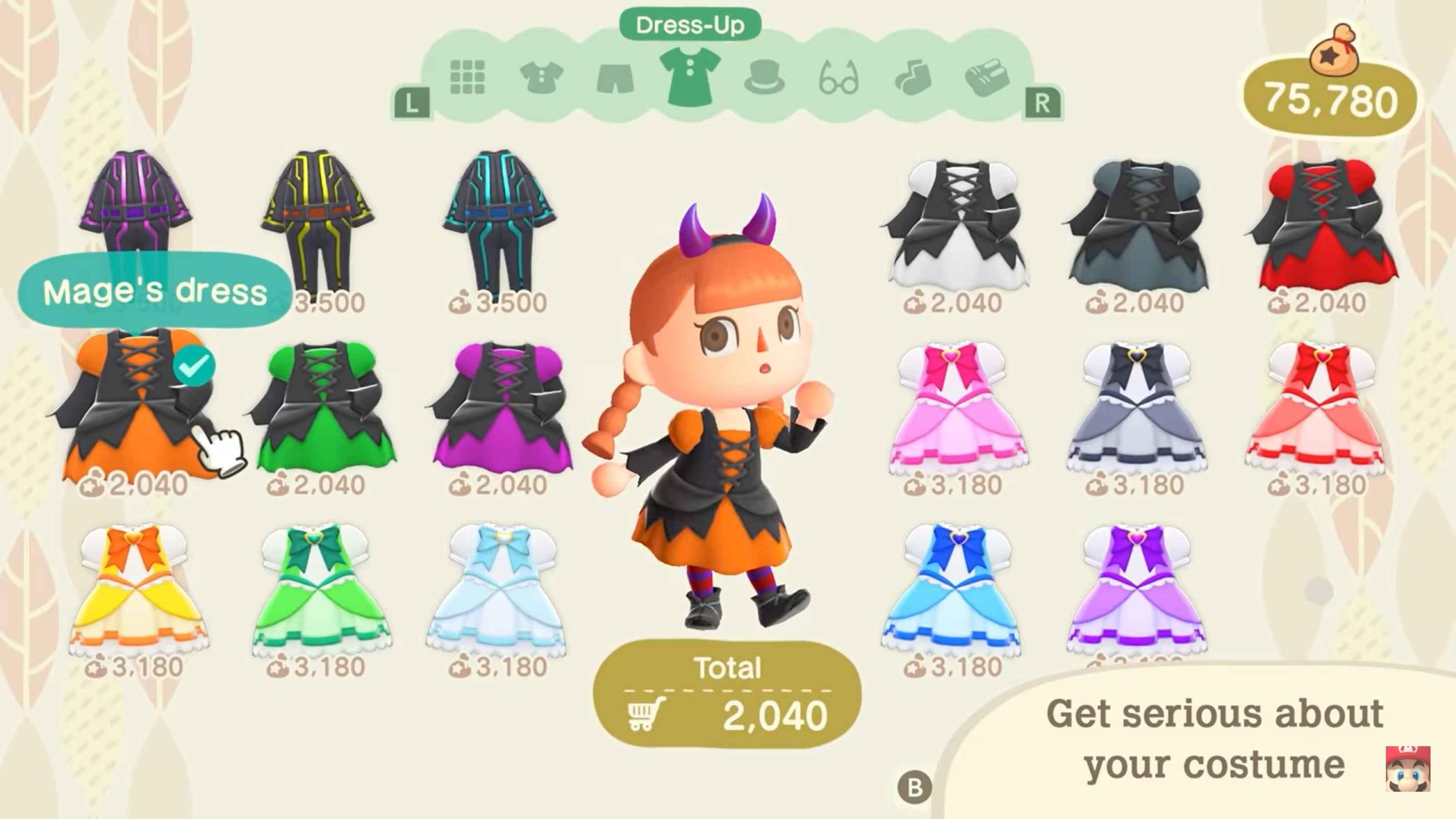 Animal Crossing Fall Update 3 - halloween costumes