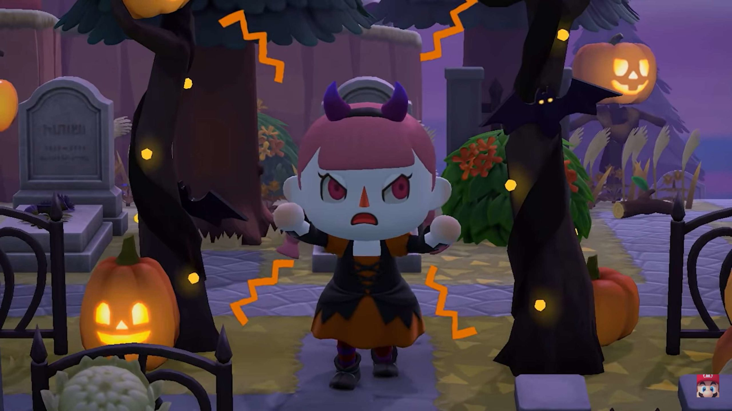 Animal Crossing Fall Update 4 - halloween night event