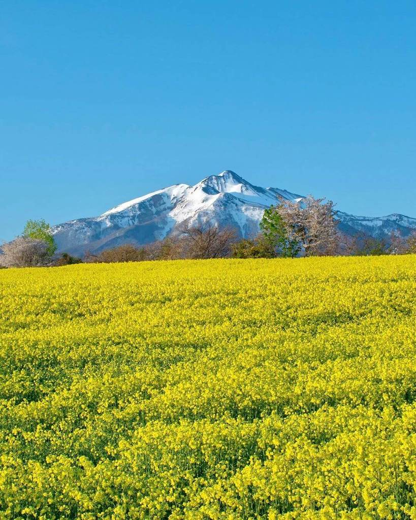 Mountains in Japan - mount iwaki and its surrounding landscapes