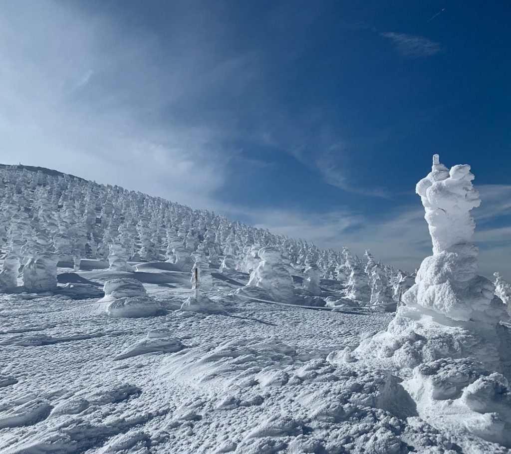 Mountains in Japan - snow monsters on mount zao