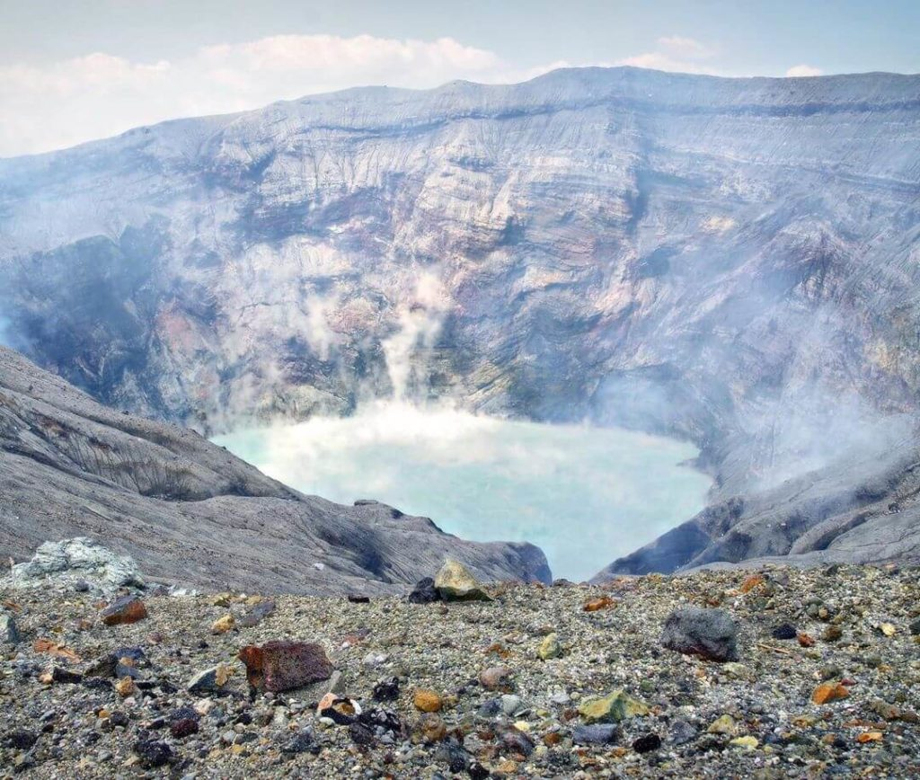Mountains in Japan - mount aso's crater