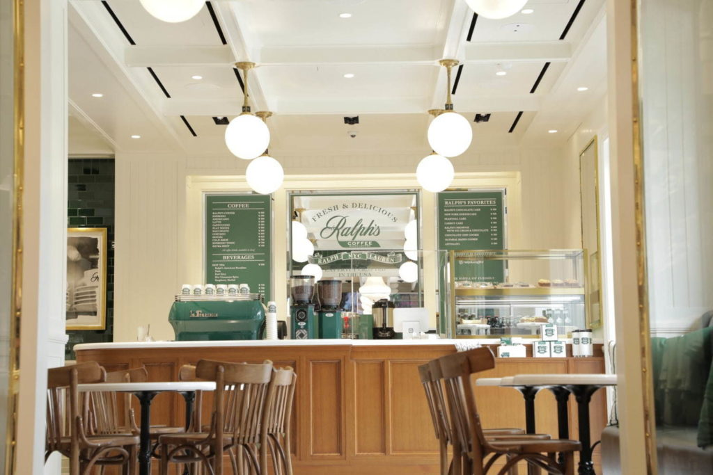 Ralph Lauren café and flagship store - interior of ralph's coffee nagoya