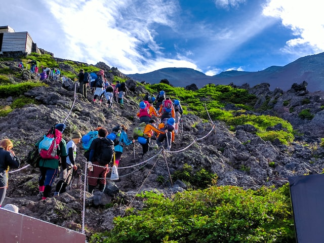 Things to do in Japan in summer - climbing mt fuji