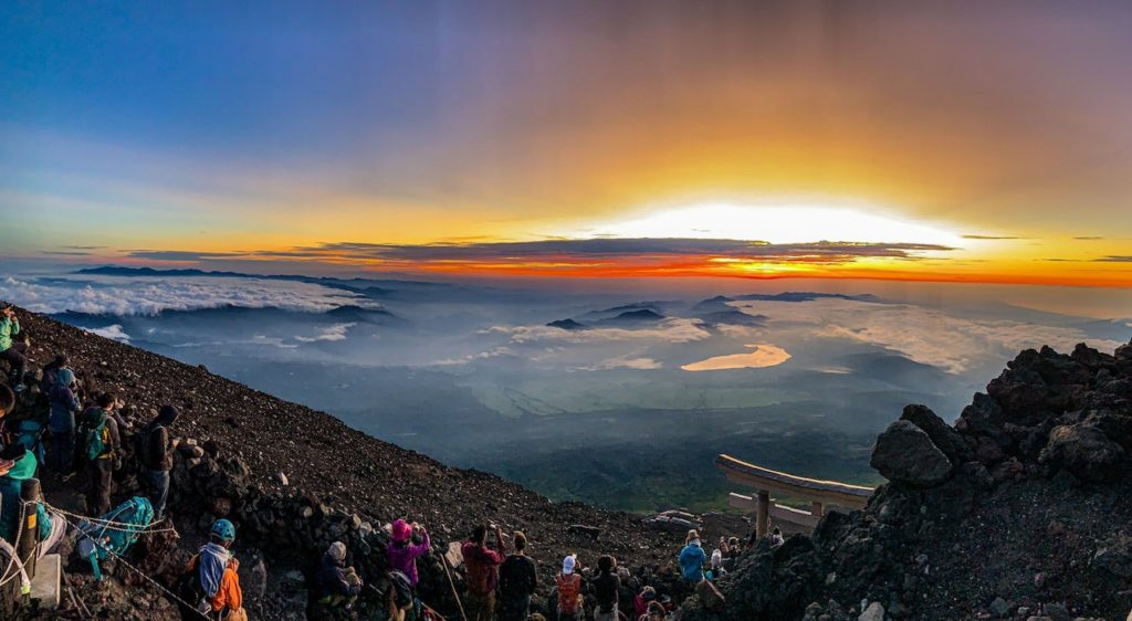 Things to do in Japan in summer - summit of mt fuji