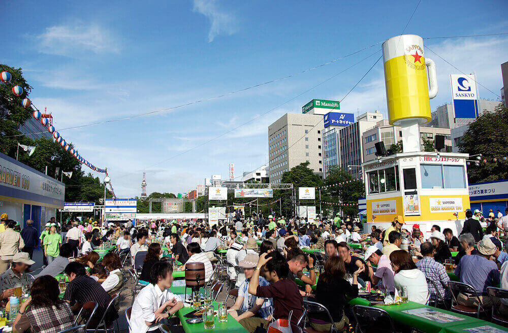 Things to do in Japan in summer - sapporo beer garden