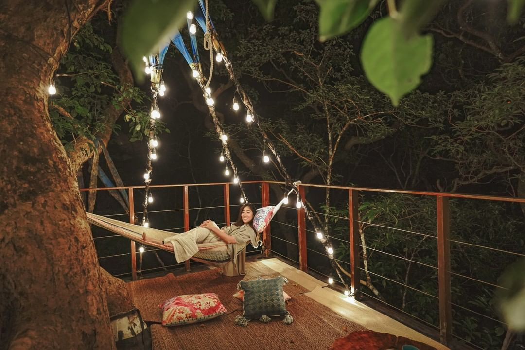 treeful treehouse - night rooftop