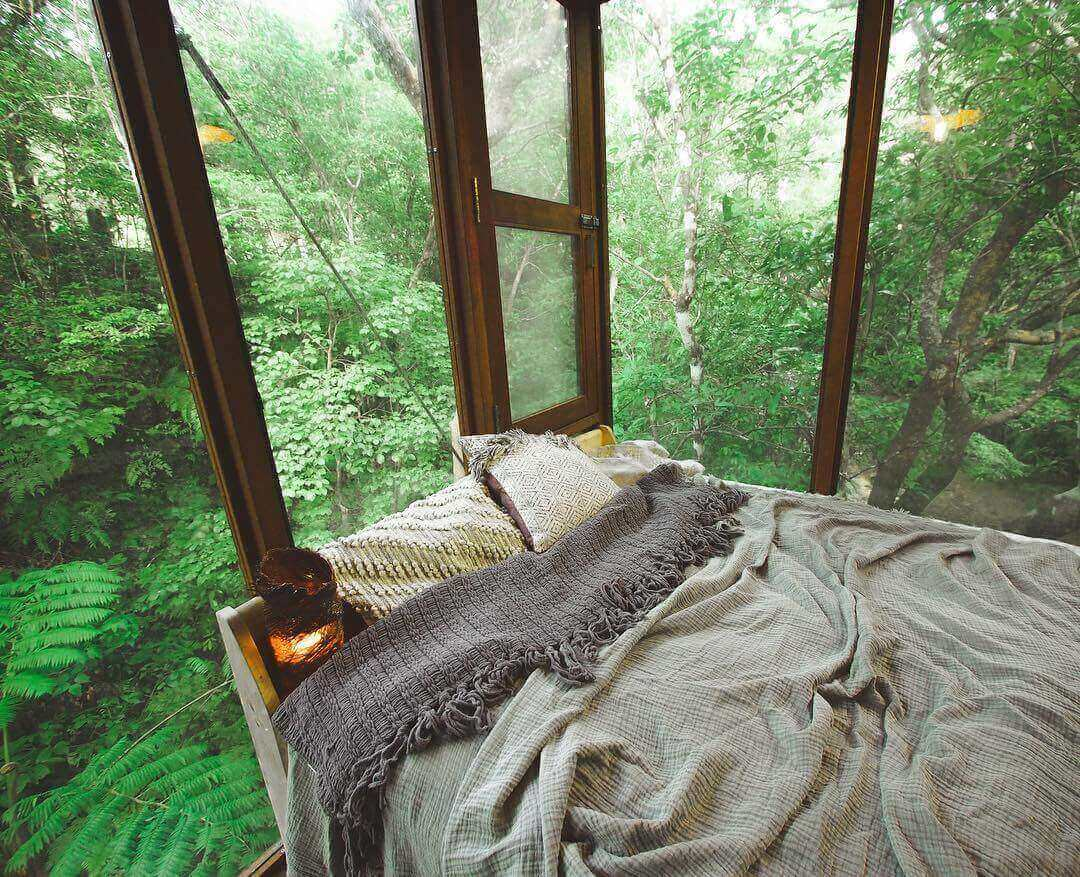 treeful treehouse - bed and scenery