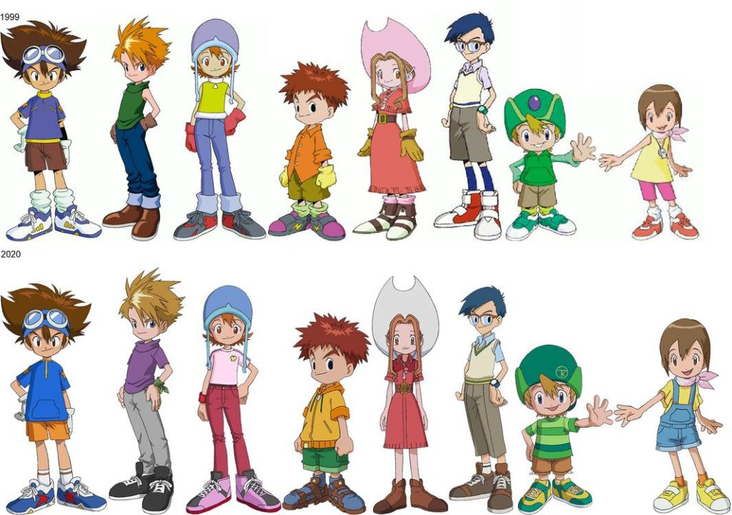 Anime reboots - digimon adventure remake and original