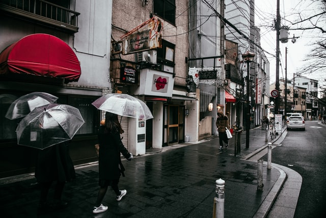 Mysteries in Japan - rainy day japan