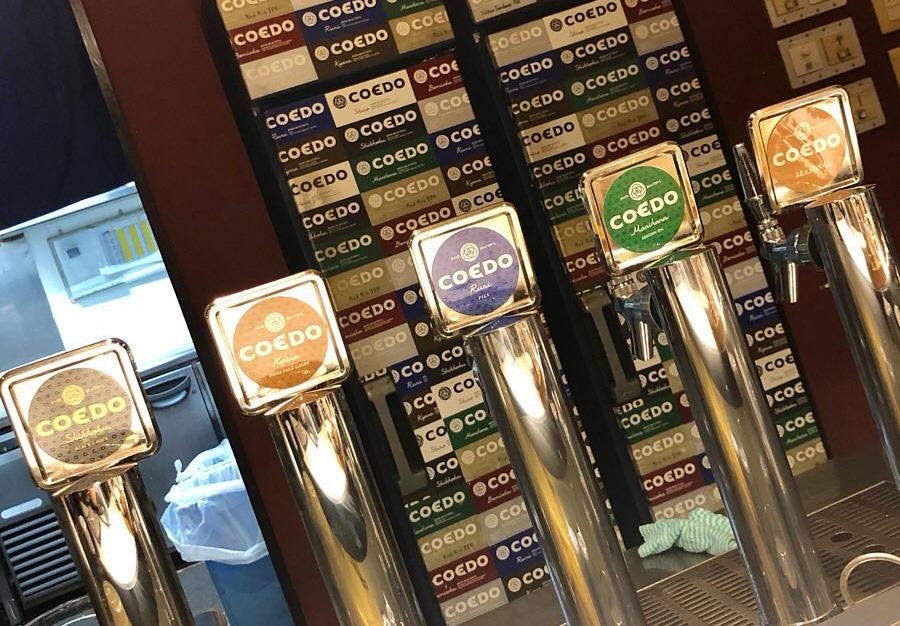 kawagoe - coedo beer on tap