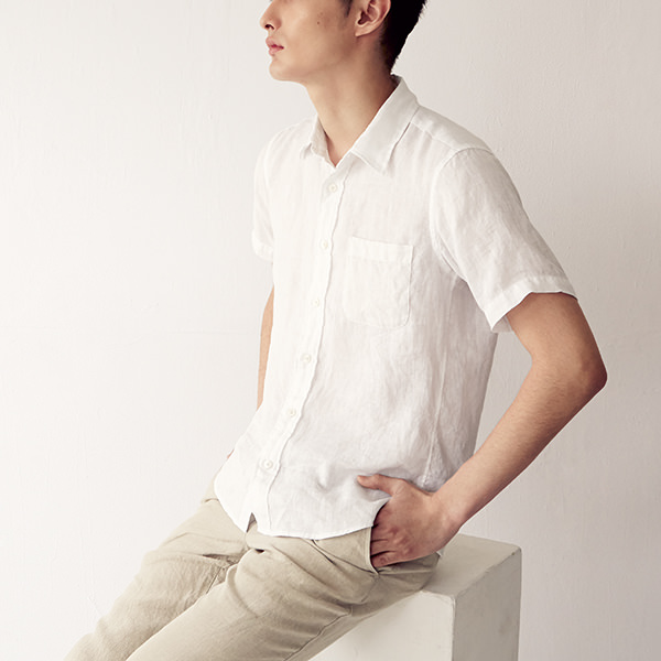 Japanese clothing - white linen shirt