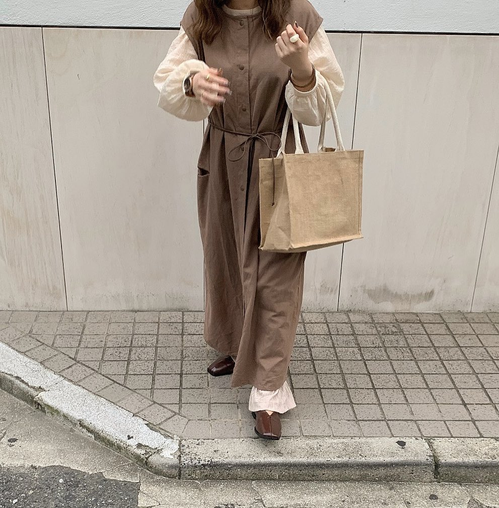 Japanese clothing - dress and chiffon top