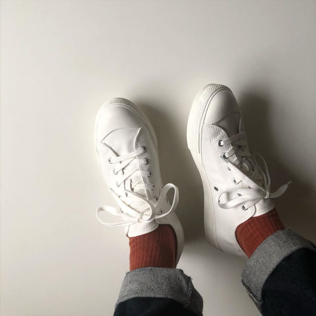 Japanese clothing - white sneakers