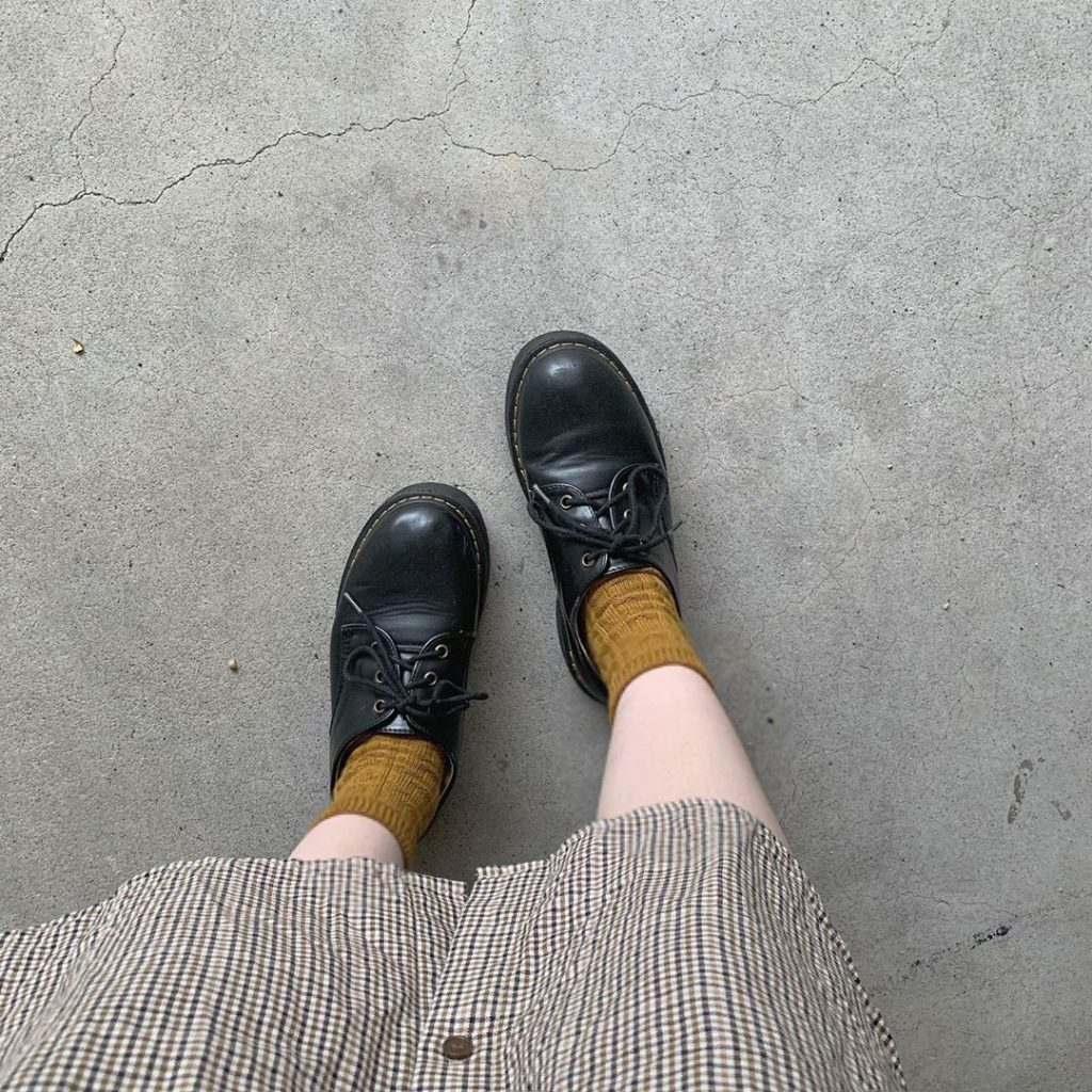 Japanese clothing - socks with low-cut boots