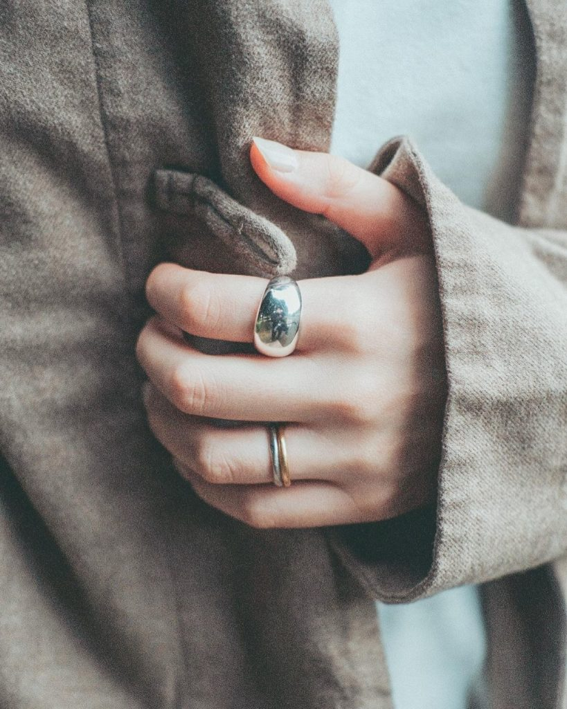 Japanese clothing - silver rings