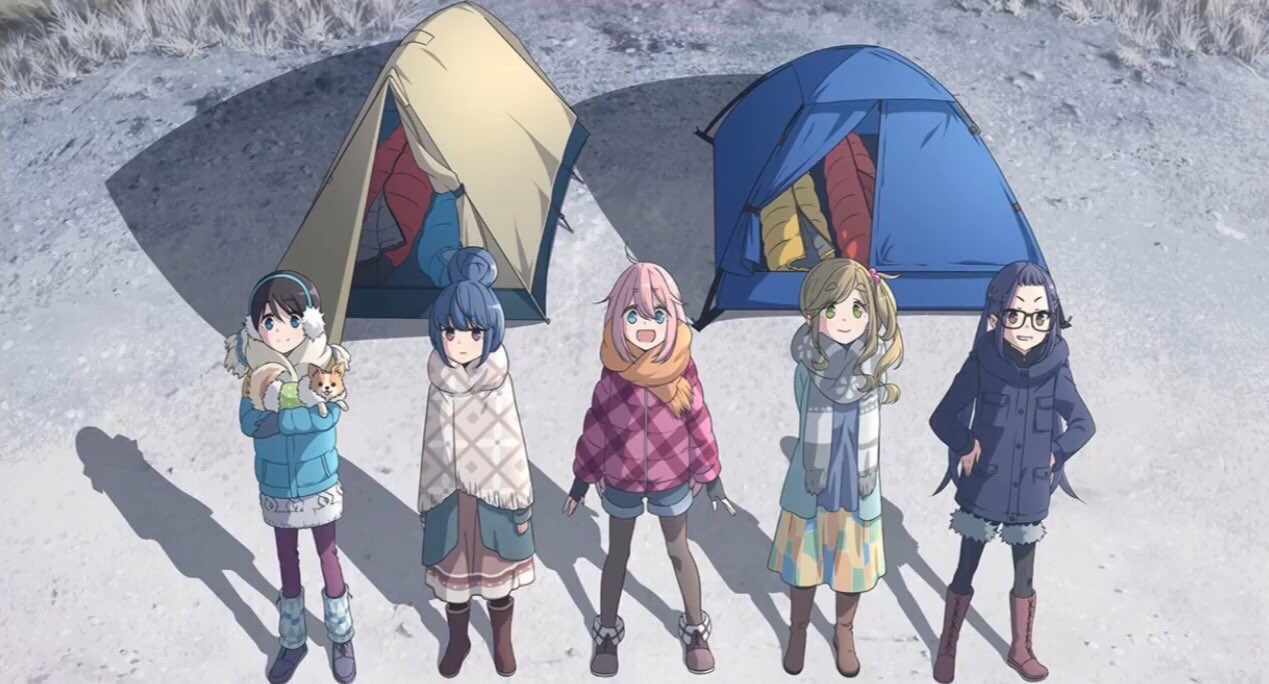 New Anime Winter 2021 21 - laidback camp characters