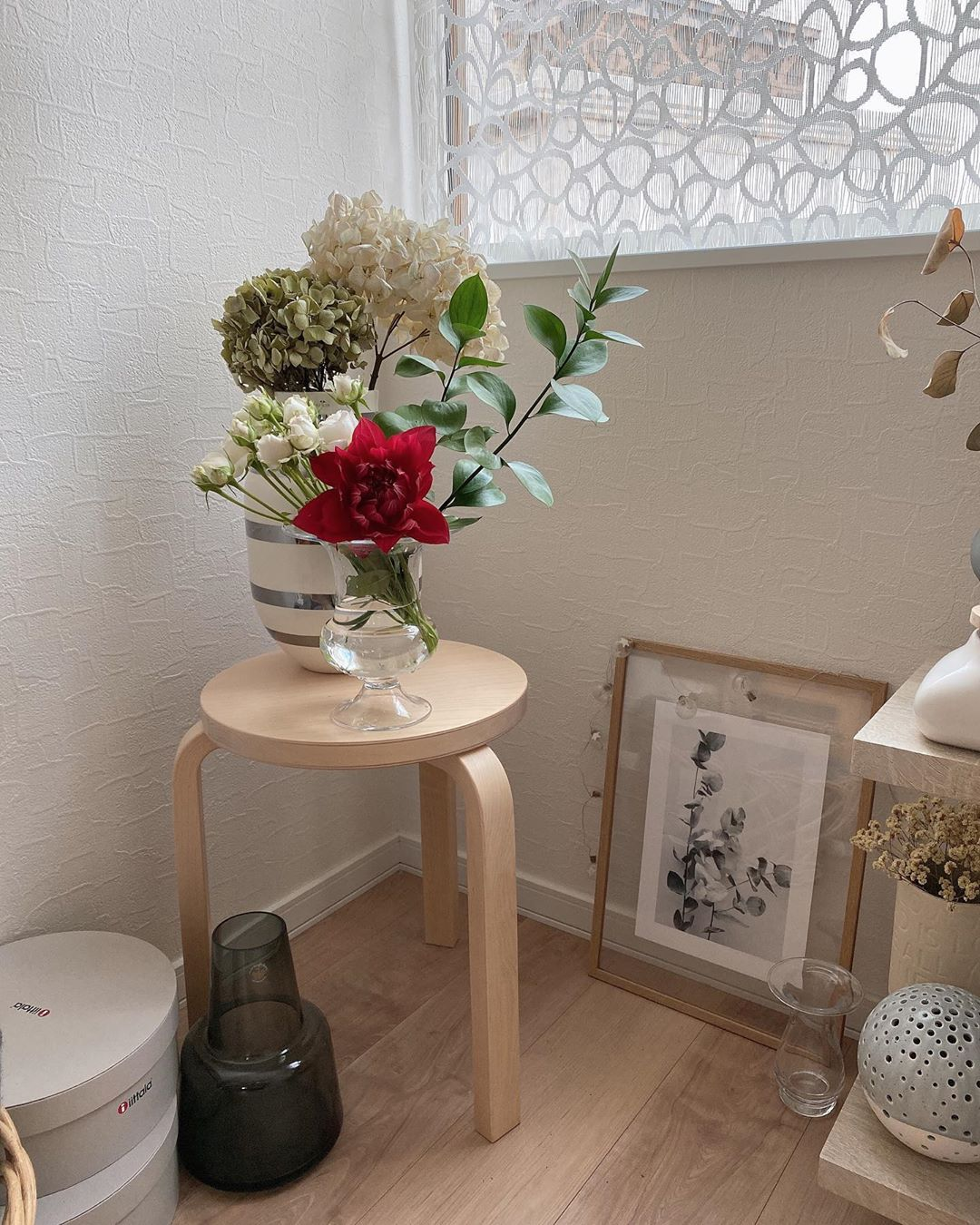 japanese home decor - colourful flowers