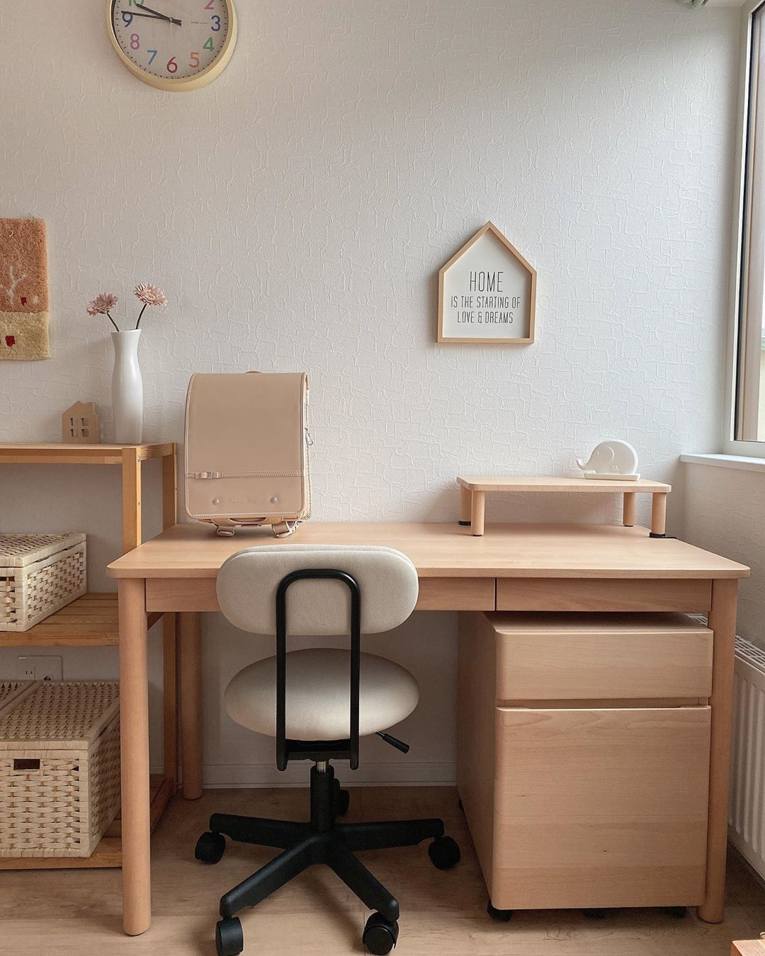 japanese home decor - light wood and beige theme