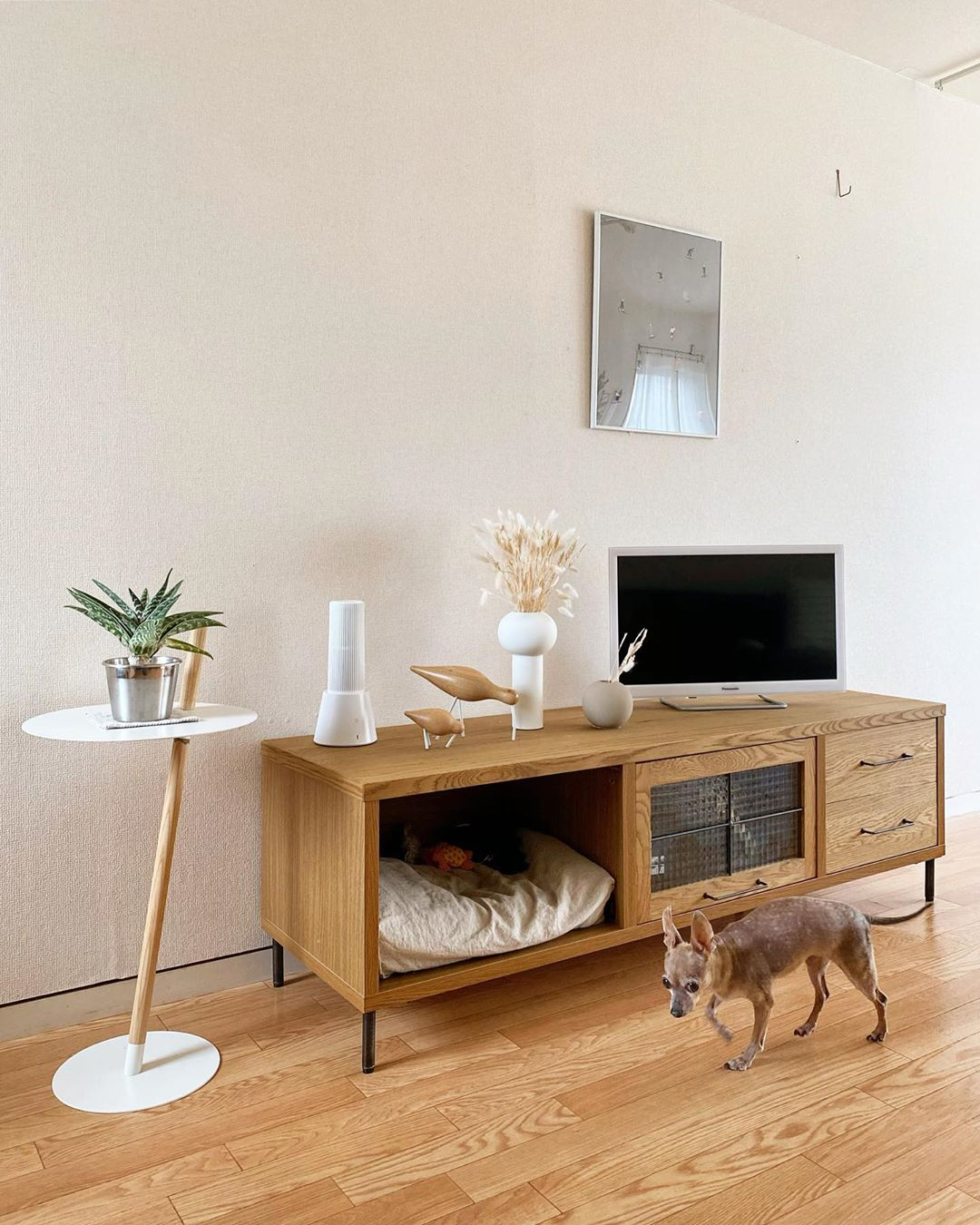 japanese home decor - spaces for dogs
