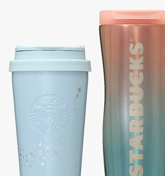 starbucks japan pastel christmas 2020 - blue tumbler and bottle